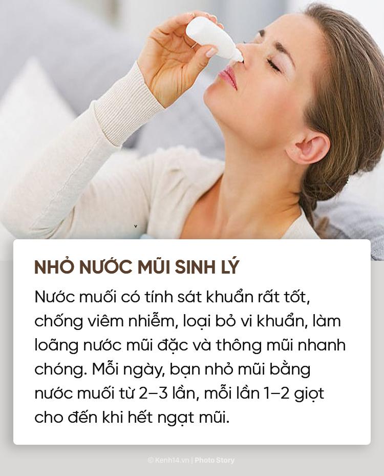 Không cần phải dùng đến thuốc vẫn chữa được ngạt mũi, sổ mũi nhờ những mẹo này - Ảnh 9.
