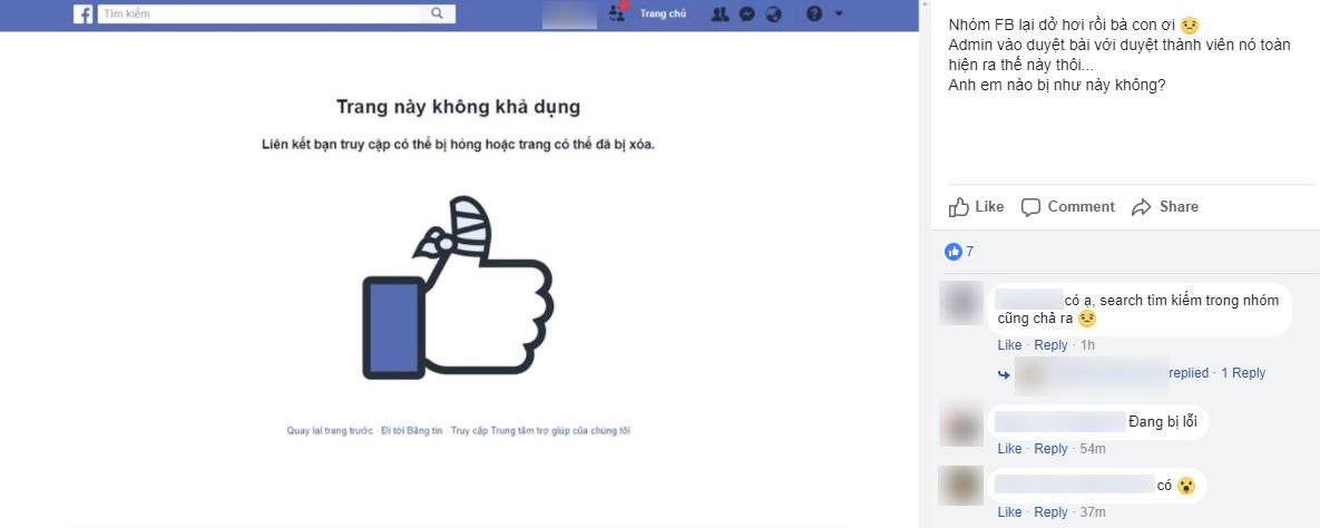 Group Facebook vừa bị lỗi hiển thị lung tung, bấm vào đâu cũng văng trở lại News Feed - Ảnh 1.