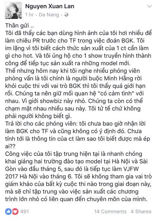 Không phản ứng gay gắt như năm ngoái, đây là câu trả lời của Xuân Lan khi được đồn ngồi vào ghế HLV The Face 2018 - Ảnh 3.