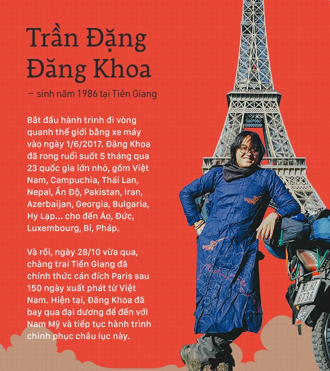 Trần Đặng Đăng Khoa và chiếc xe máy đi vòng quanh thế giới: Bình thản lên đường, bình thản tự do - Ảnh 3.
