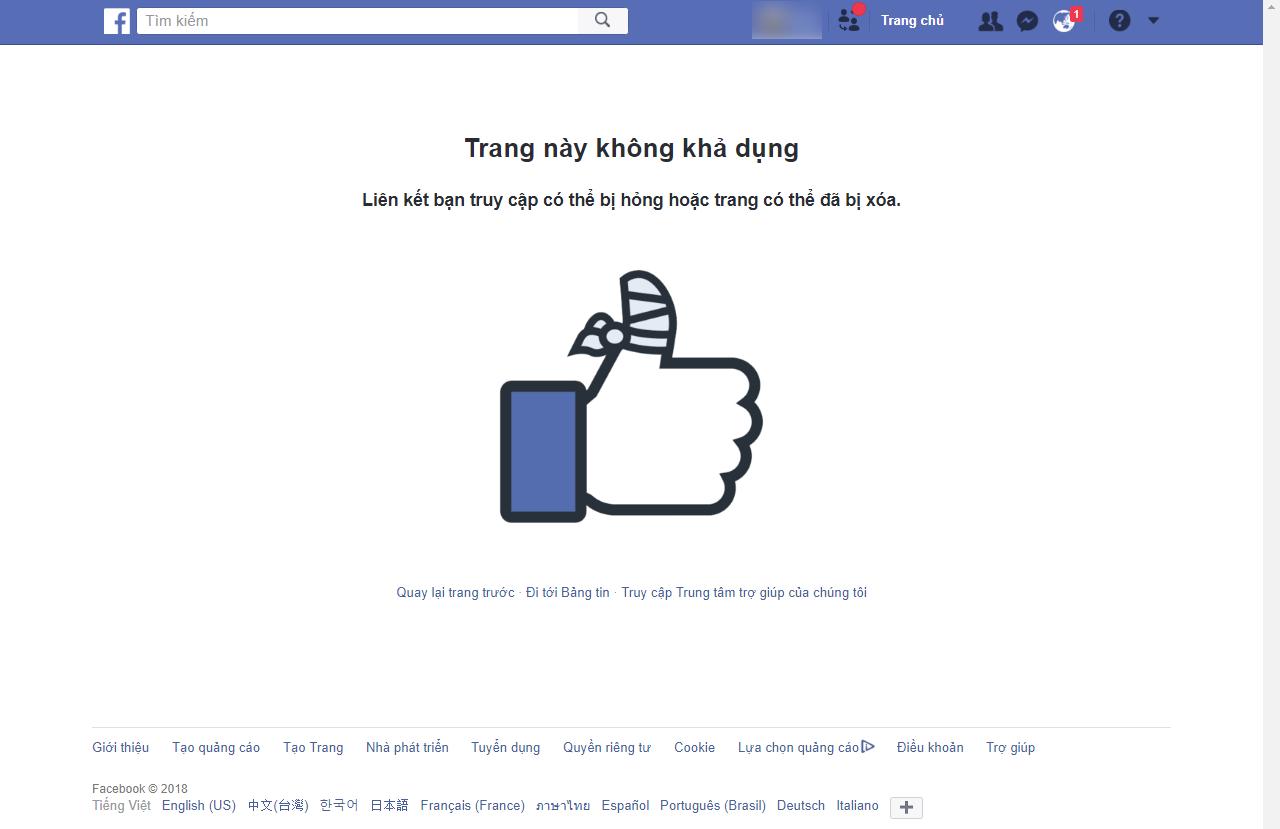 Group Facebook vừa bị lỗi hiển thị lung tung, bấm vào đâu cũng văng trở .