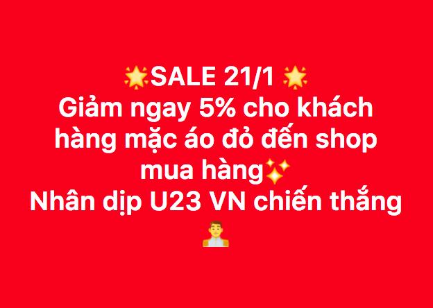 Sale 23%, sale cho khách trùng tên với cầu thủ - đây là cách hàng loạt shop, quán cafe ăn mừng chiến thắng của U23 - Ảnh 7.