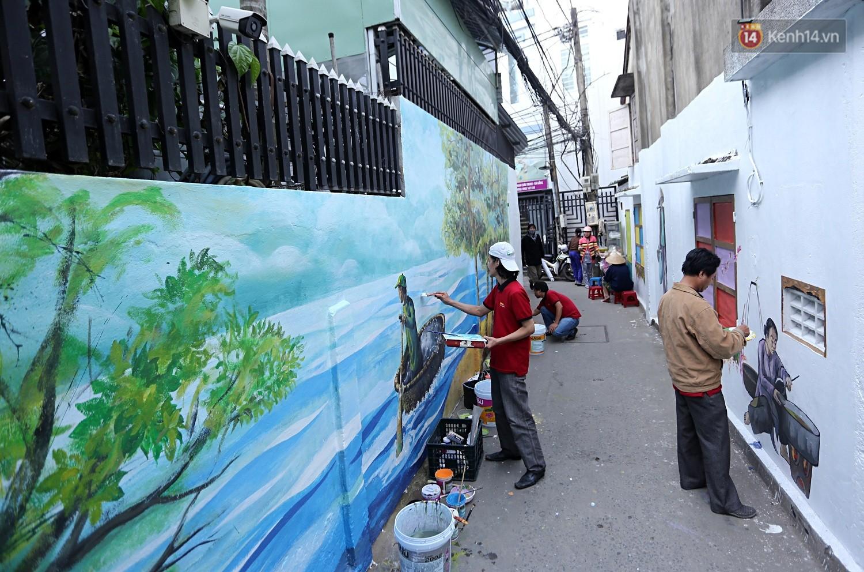 Chùm ảnh: Ngắm nhìn những bức tranh đầu tiên ở làng bích họa trong lòng thành phố Đà Nẵng - Ảnh 3.
