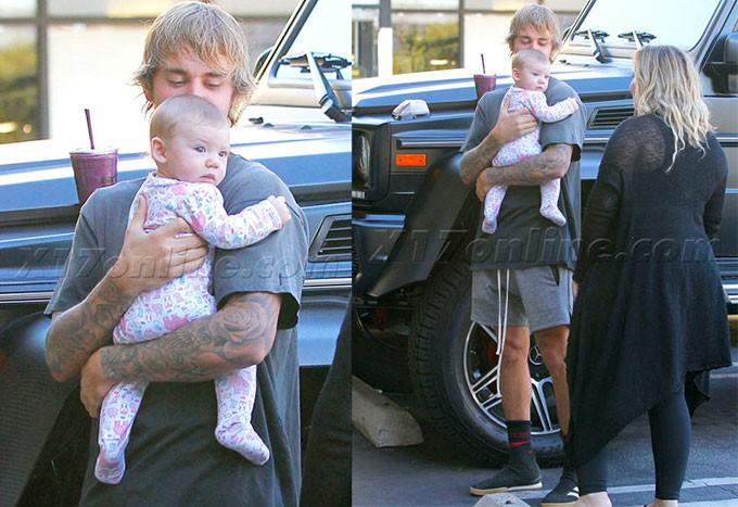 Chưa lên chức bố, nhưng Justin Bieber đã đốn tim fan với hình ảnh bế em bé đáng yêu - Ảnh 3.