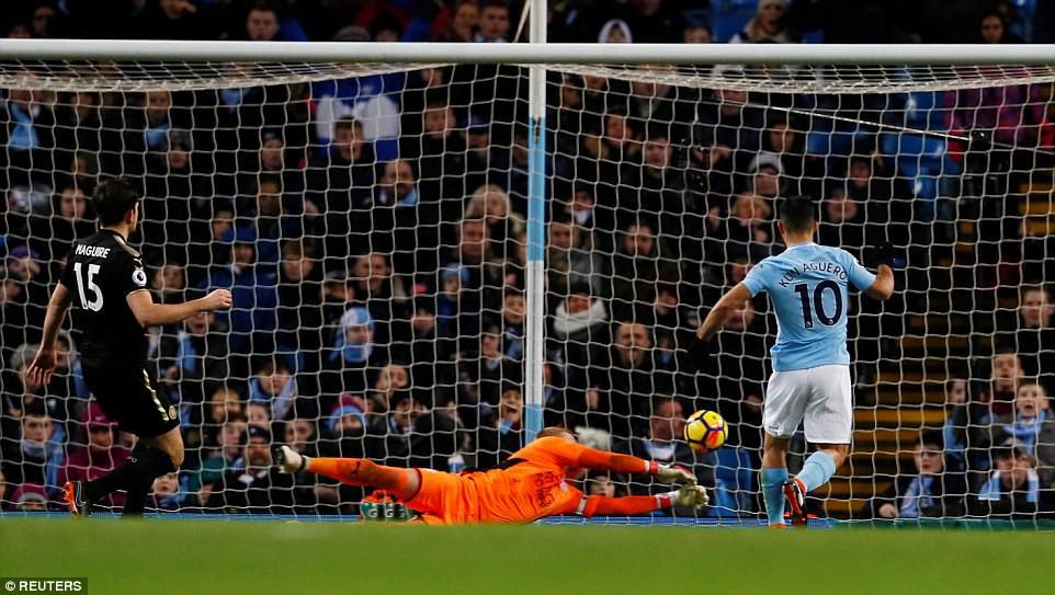 Aguero ghi 4 bàn, Man City nghiền nát cựu vương Leicester - Ảnh 6.