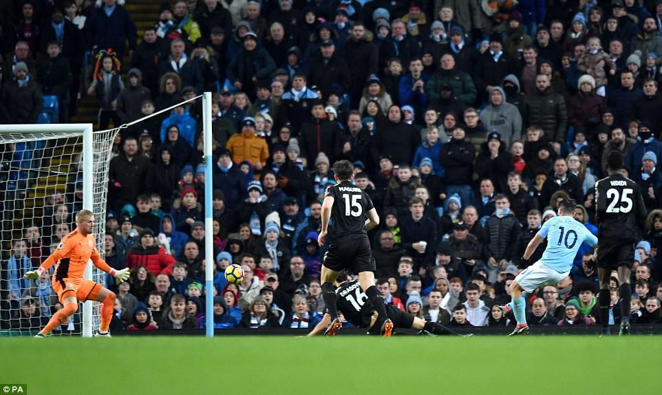 Aguero ghi 4 bàn, Man City nghiền nát cựu vương Leicester - Ảnh 7.