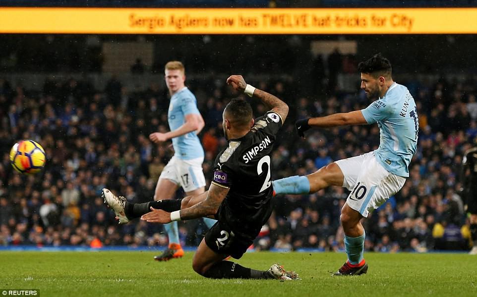 Aguero ghi 4 bàn, Man City nghiền nát cựu vương Leicester - Ảnh 10.