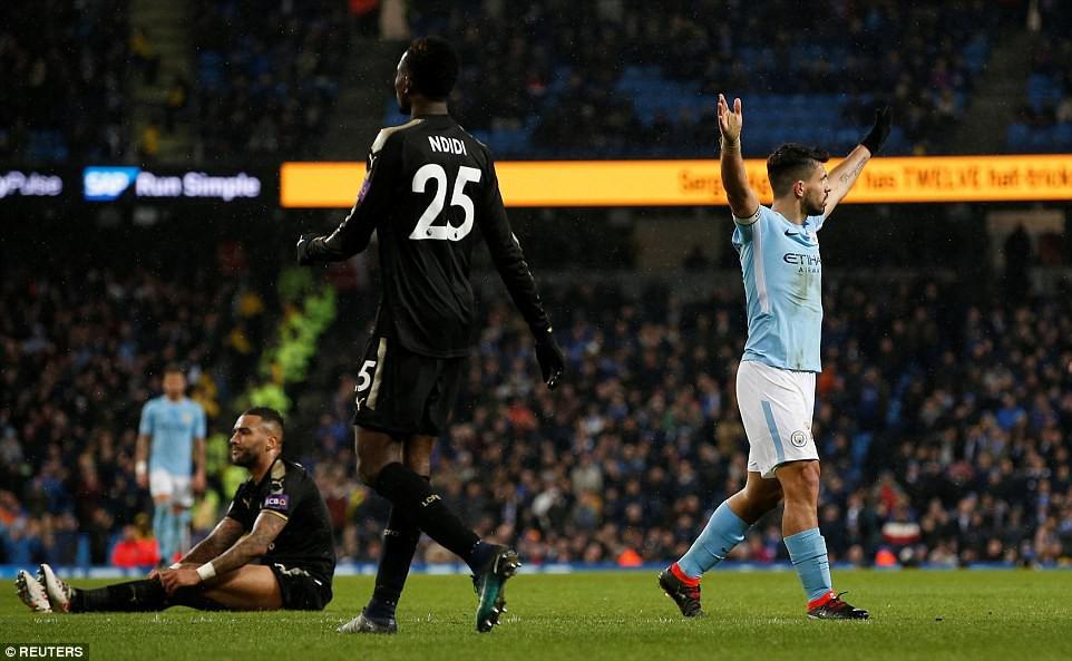 Aguero ghi 4 bàn, Man City nghiền nát cựu vương Leicester - Ảnh 9.