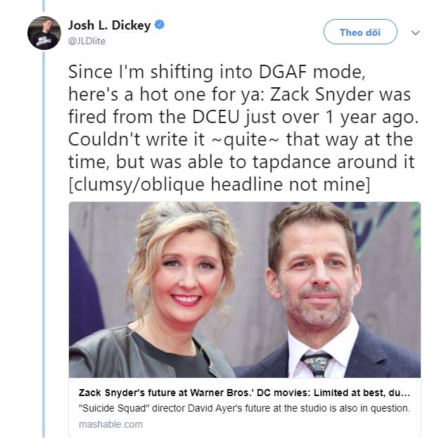 Rộ tin Zack Snyder bị sa thải khỏi Vũ trụ Điện ảnh DC Comics - Ảnh 1.