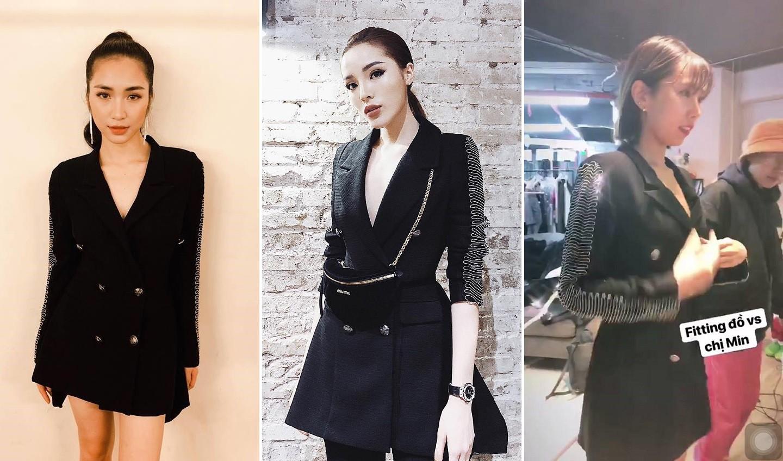 Cùng diện chung mẫu vest cá tính: trong khi Kỳ Duyên kín như bưng, Hòa Minzy lại khoe chân thon dài - Ảnh 7.