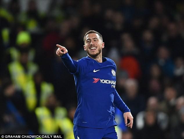Hazard lập cú đúp, Chelsea trở lại Top 4 - Ảnh 15.