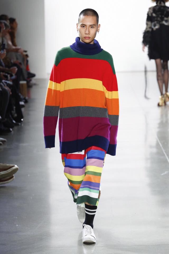 Và đây vẫn là mẫu nam duy nhất của nước ta trình diễn tại New York Fashion Week mùa này - Ảnh 1.