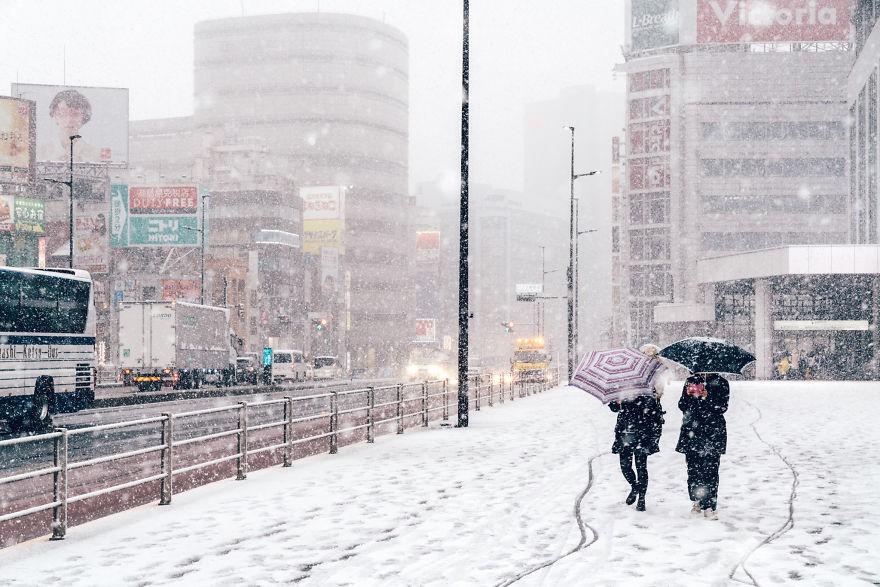 Ngắm bộ ảnh Tokyo tuyệt đẹp trong tuyết trắng dưới góc nhìn của nhiếp ảnh gia Nhật Bản - Ảnh 9.