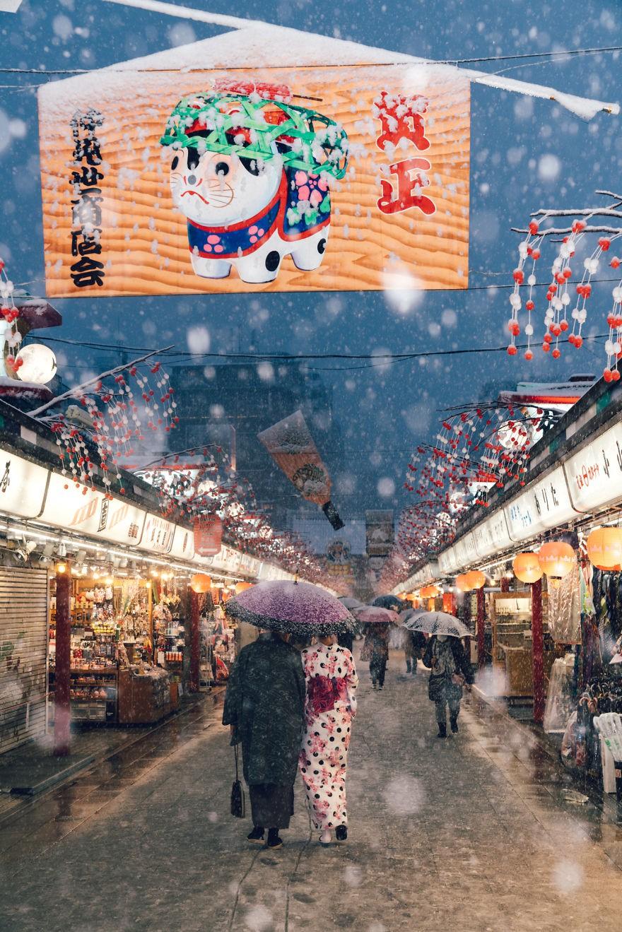 Ngắm bộ ảnh Tokyo tuyệt đẹp trong tuyết trắng dưới góc nhìn của nhiếp ảnh gia Nhật Bản - Ảnh 11.