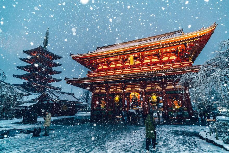 Ngắm bộ ảnh Tokyo tuyệt đẹp trong tuyết trắng dưới góc nhìn của nhiếp ảnh gia Nhật Bản - Ảnh 5.