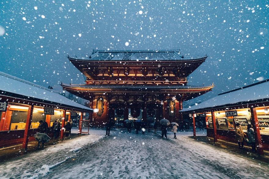 Ngắm bộ ảnh Tokyo tuyệt đẹp trong tuyết trắng dưới góc nhìn của nhiếp ảnh gia Nhật Bản - Ảnh 25.