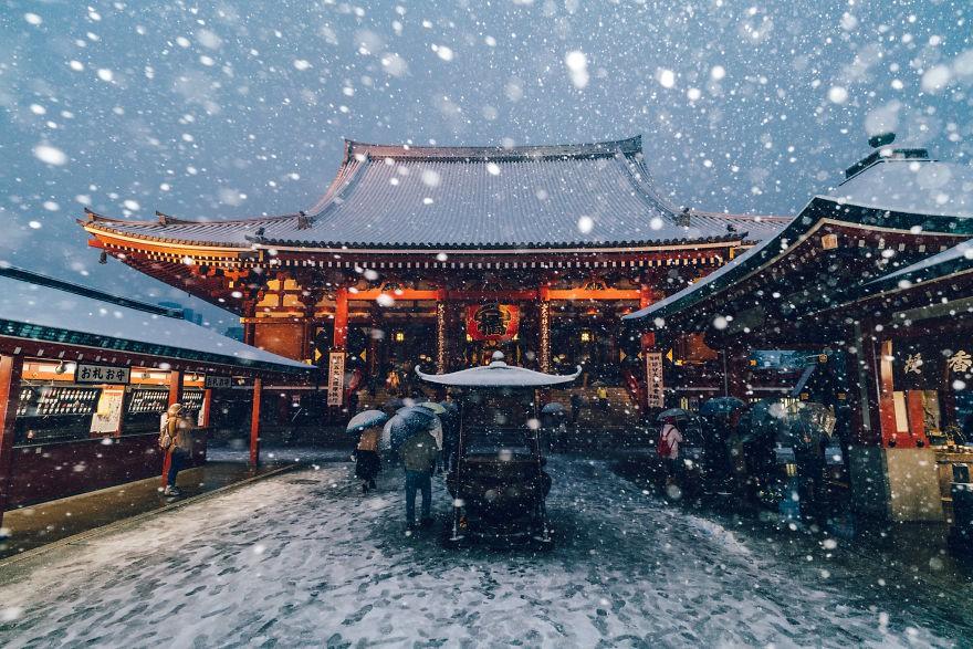 Ngắm bộ ảnh Tokyo tuyệt đẹp trong tuyết trắng dưới góc nhìn của nhiếp ảnh gia Nhật Bản - Ảnh 19.