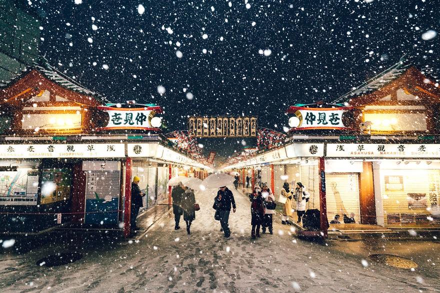Ngắm bộ ảnh Tokyo tuyệt đẹp trong tuyết trắng dưới góc nhìn của nhiếp ảnh gia Nhật Bản - Ảnh 7.