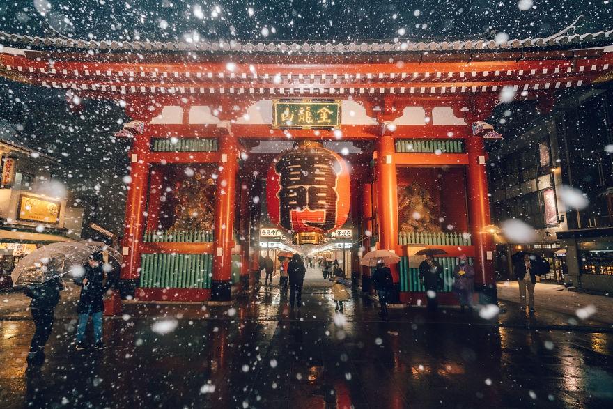 Ngắm bộ ảnh Tokyo tuyệt đẹp trong tuyết trắng dưới góc nhìn của nhiếp ảnh gia Nhật Bản - Ảnh 15.