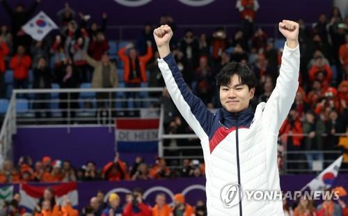 Kim Min-seok giành huy chương lịch sử cho trượt băng tốc độ Hàn Quốc và châu Á - Ảnh 1.