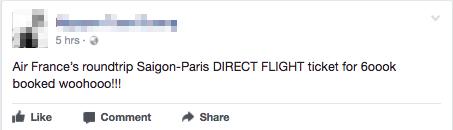 Sáng 29 Tết, nhiều người Việt bất ngờ mua được vé máy bay khứ hồi đi Pháp với chỉ khoảng 4,7 triệu đồng - Ảnh 1.