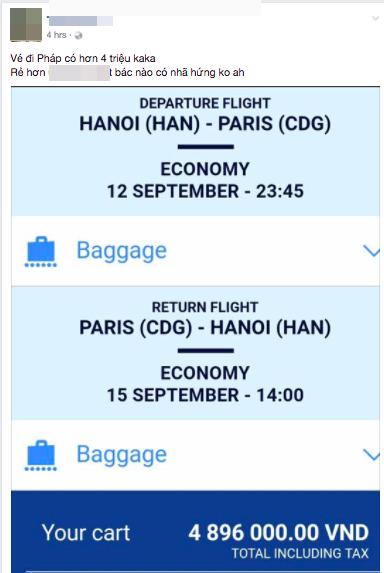 Sáng 29 Tết, nhiều người Việt bất ngờ mua được vé máy bay khứ hồi đi Pháp với chỉ khoảng 4,7 triệu đồng - Ảnh 2.