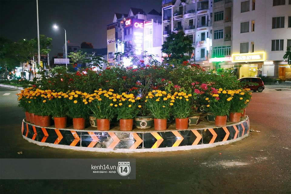 """Câu chuyện đáng yêu về hai vợ chồng """"dịu dàng giữa thịnh nộ"""": Mang hoa ế 30 Tết trang trí cho vòng xoay ở Sài Gòn - Ảnh 3."""