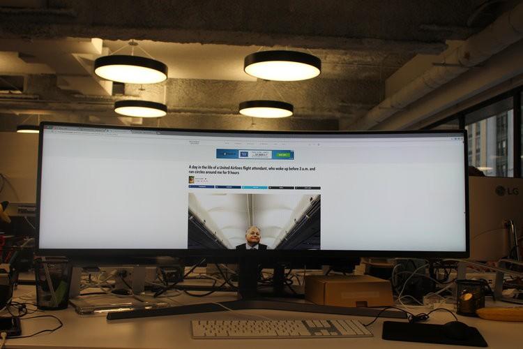 Màn hình cực dị dài bằng cả mặt bàn này sẽ hiển thị các trang web như thế nào? - Ảnh 5.
