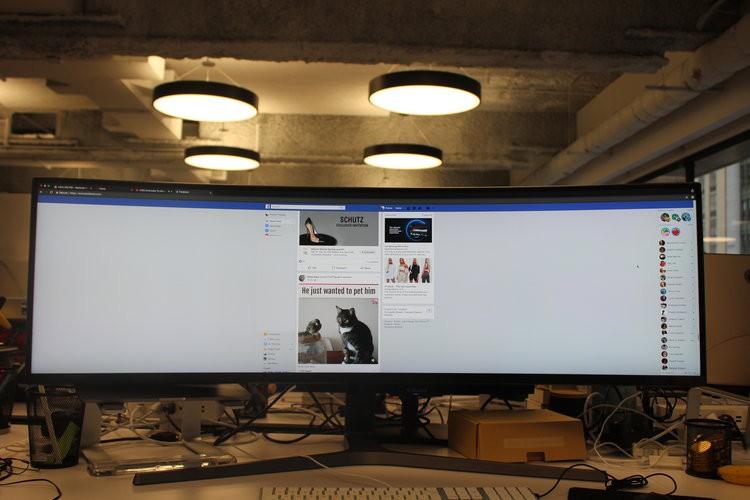 Màn hình cực dị dài bằng cả mặt bàn này sẽ hiển thị các trang web như thế nào? - Ảnh 3.