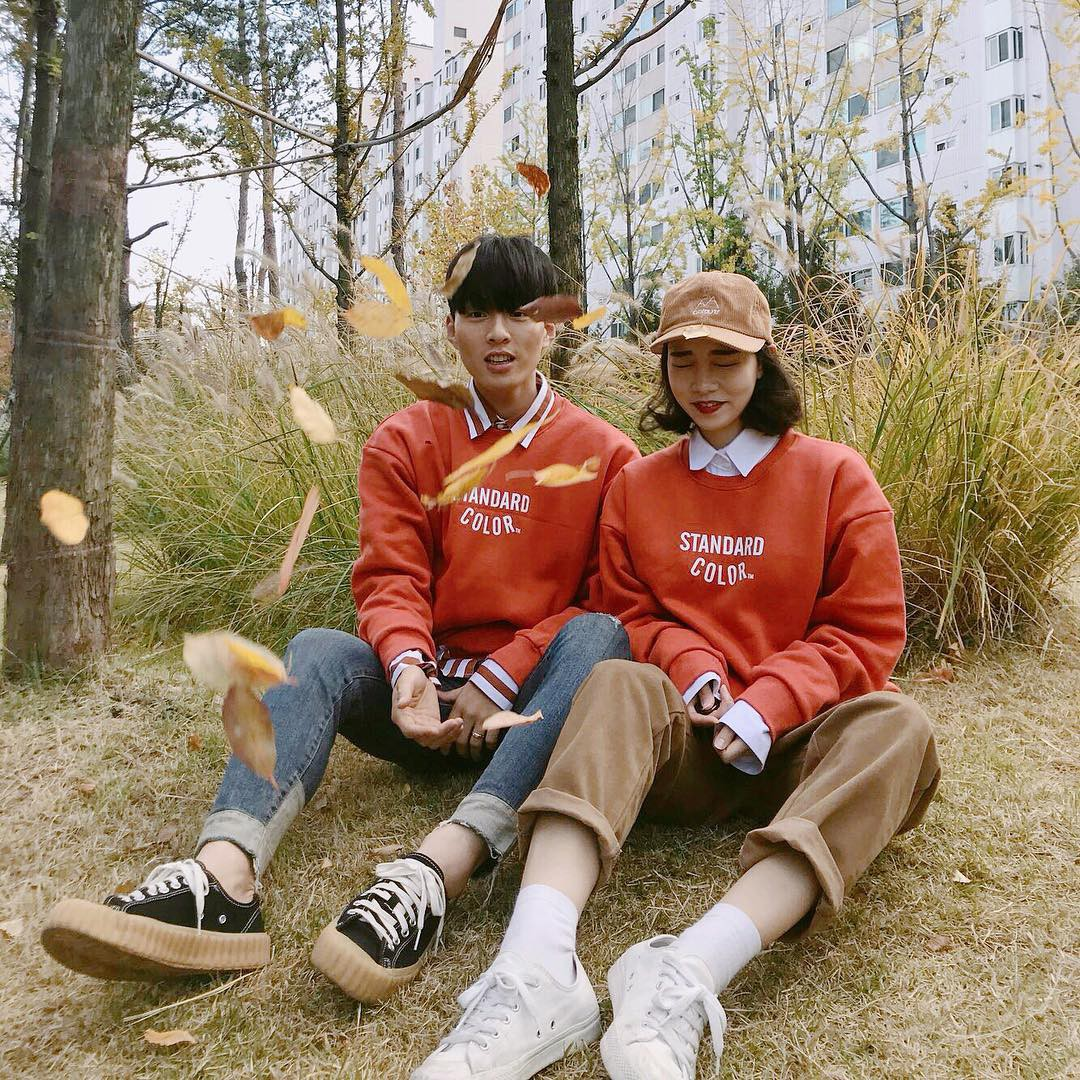 Cứ yêu nhau là phải mặc đồ đôi, nhưng mặc sao cho đẹp thì phải nhìn ngay 5 cặp đôi xứ Hàn này - Ảnh 3.