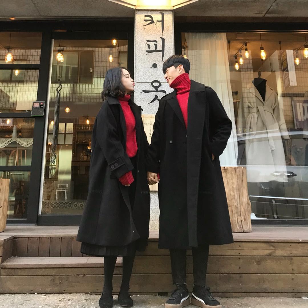 Cứ yêu nhau là phải mặc đồ đôi, nhưng mặc sao cho đẹp thì phải nhìn ngay 5 cặp đôi xứ Hàn này - Ảnh 4.