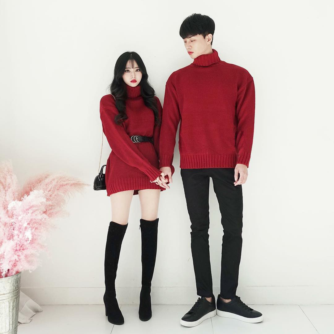 Cứ yêu nhau là phải mặc đồ đôi, nhưng mặc sao cho đẹp thì phải nhìn ngay 5 cặp đôi xứ Hàn này - Ảnh 8.