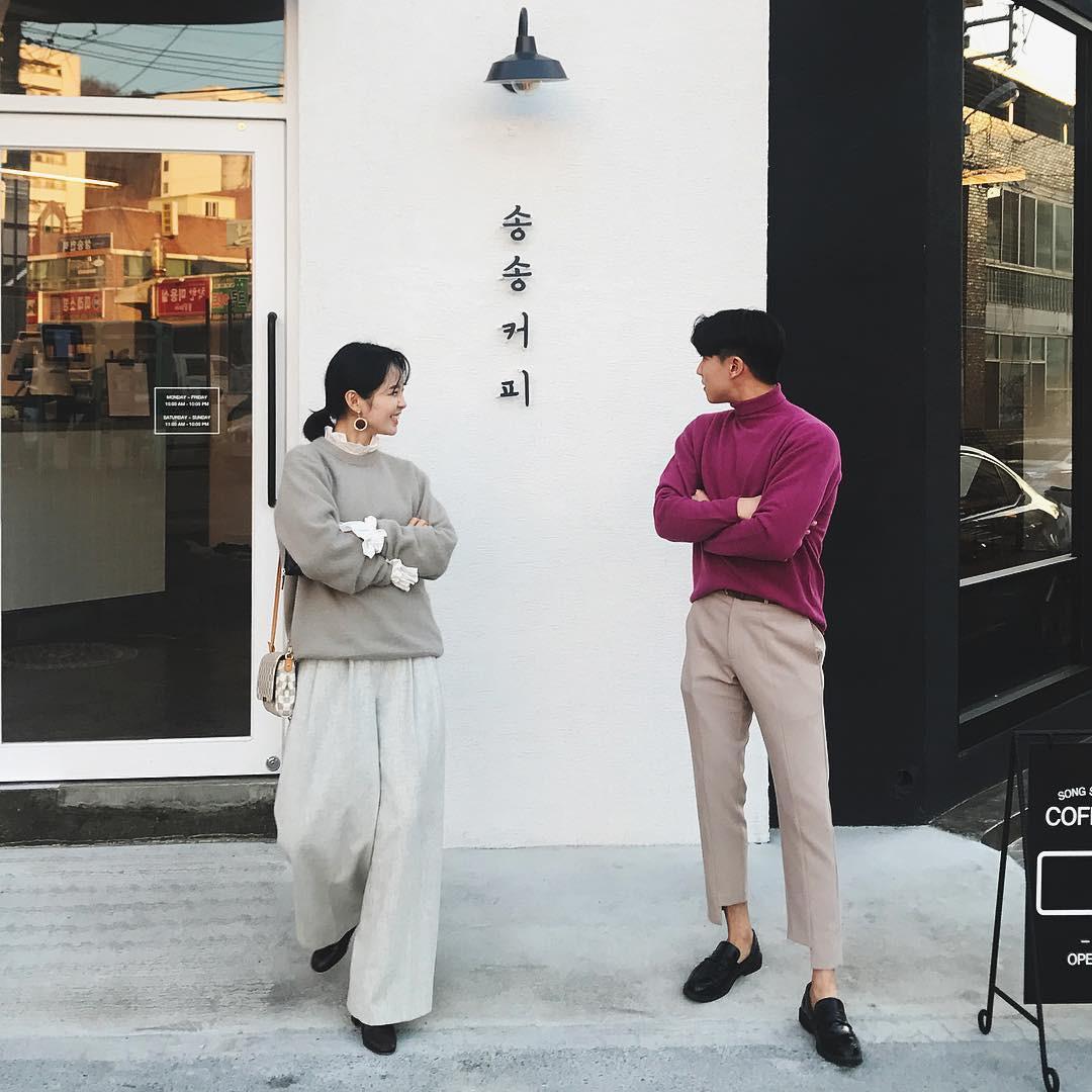 Cứ yêu nhau là phải mặc đồ đôi, nhưng mặc sao cho đẹp thì phải nhìn ngay 5 cặp đôi xứ Hàn này - Ảnh 20.