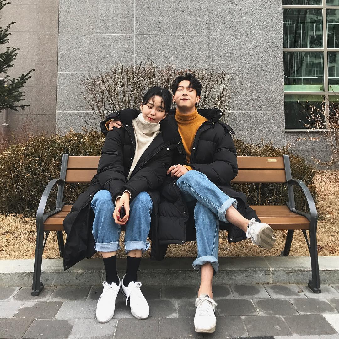 Cứ yêu nhau là phải mặc đồ đôi, nhưng mặc sao cho đẹp thì phải nhìn ngay 5 cặp đôi xứ Hàn này - Ảnh 18.