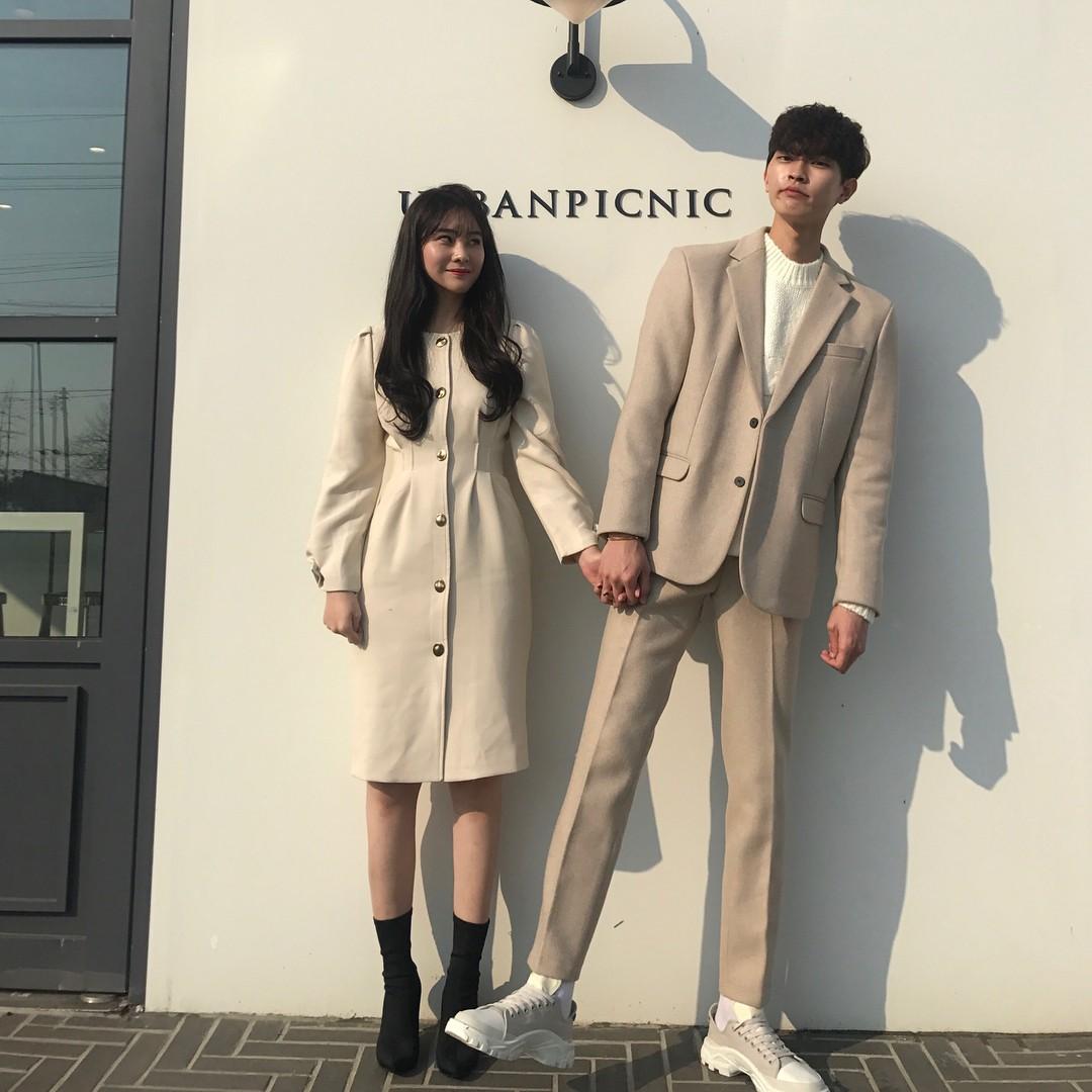 Cứ yêu nhau là phải mặc đồ đôi, nhưng mặc sao cho đẹp thì phải nhìn ngay 5 cặp đôi xứ Hàn này - Ảnh 16.
