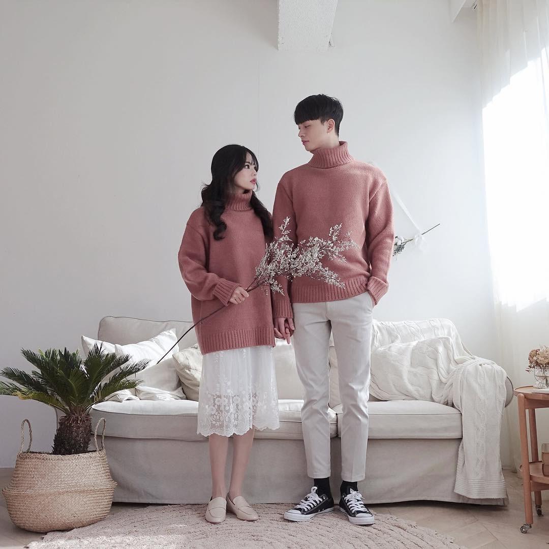 Cứ yêu nhau là phải mặc đồ đôi, nhưng mặc sao cho đẹp thì phải nhìn ngay 5 cặp đôi xứ Hàn này - Ảnh 9.