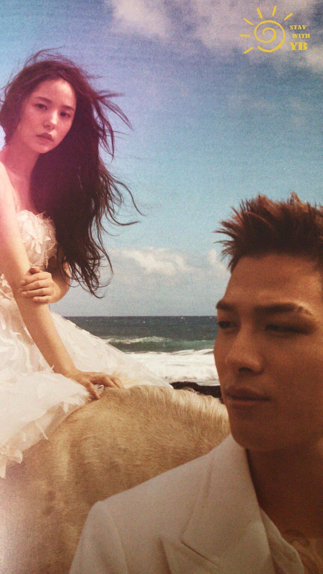 Ngã ngửa vì Min Hyo Rin khoe ngực khủng như sắp tràn, Taeyang... đội khăn voan cô dâu trong hình cưới - Ảnh 8.