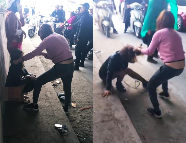 Cô gái trẻ bị lột quần, túm tóc đánh ghen sau khi lớn tiếng thách thức vợ của nhân tình ngay ngày mùng 4 Tết - Ảnh 1.