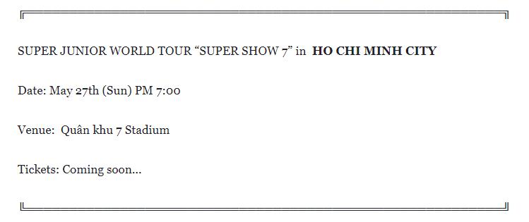 Tin Super Junior tổ chức