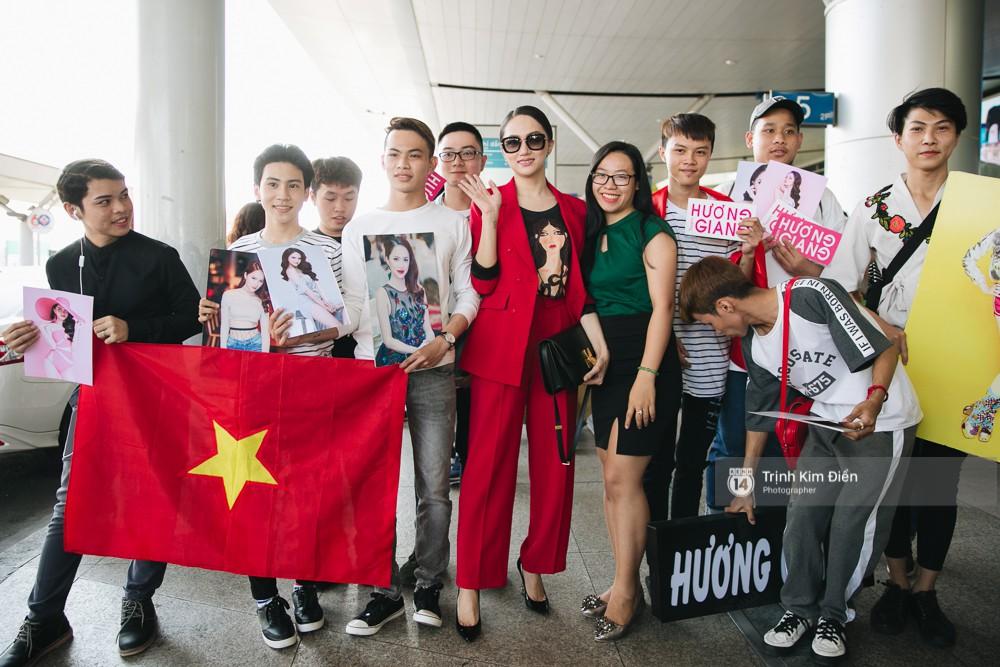 Hương Giang diện nguyên cây đồ đỏ rực, mang theo 105 kg trang phục đi chinh chiến Hoa hậu Chuyển giới Quốc tế - Ảnh 7.