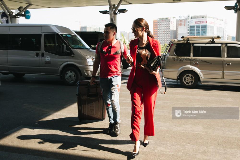 Hương Giang diện nguyên cây đồ đỏ rực, mang theo 105 kg trang phục đi chinh chiến Hoa hậu Chuyển giới Quốc tế - Ảnh 2.