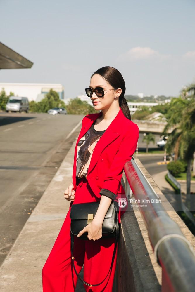 Hương Giang diện nguyên cây đồ đỏ rực, mang theo 105 kg trang phục đi chinh chiến Hoa hậu Chuyển giới Quốc tế - Ảnh 11.
