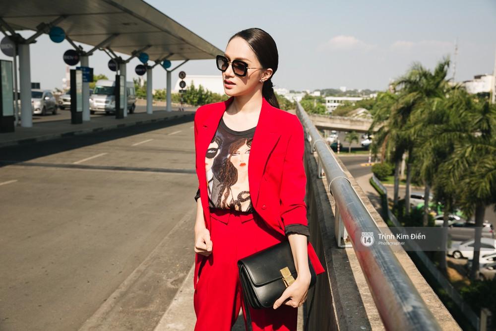 Hương Giang diện nguyên cây đồ đỏ rực, mang theo 105 kg trang phục đi chinh chiến Hoa hậu Chuyển giới Quốc tế - Ảnh 13.