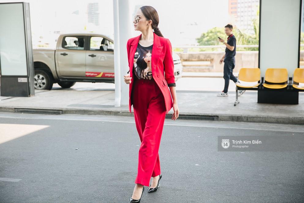 Hương Giang diện nguyên cây đồ đỏ rực, mang theo 105 kg trang phục đi chinh chiến Hoa hậu Chuyển giới Quốc tế - Ảnh 3.