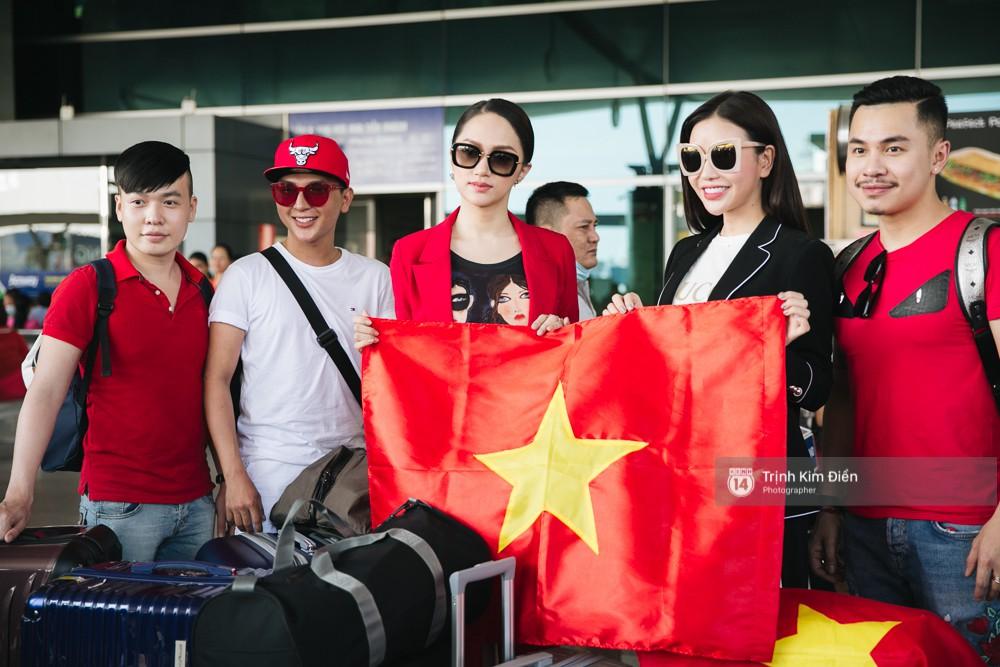 Hương Giang diện nguyên cây đồ đỏ rực, mang theo 105 kg trang phục đi chinh chiến Hoa hậu Chuyển giới Quốc tế - Ảnh 4.