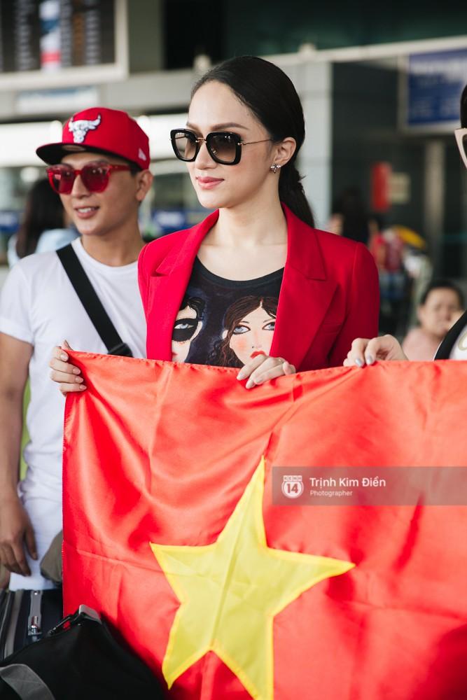 Hương Giang diện nguyên cây đồ đỏ rực, mang theo 105 kg trang phục đi chinh chiến Hoa hậu Chuyển giới Quốc tế - Ảnh 5.