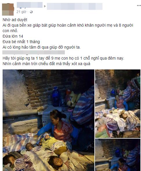 Cộng đồng chung tay giúp đỡ người mẹ nghèo ôm 4 con nhỏ ra Hà Nội xin quần áo - Ảnh 1.