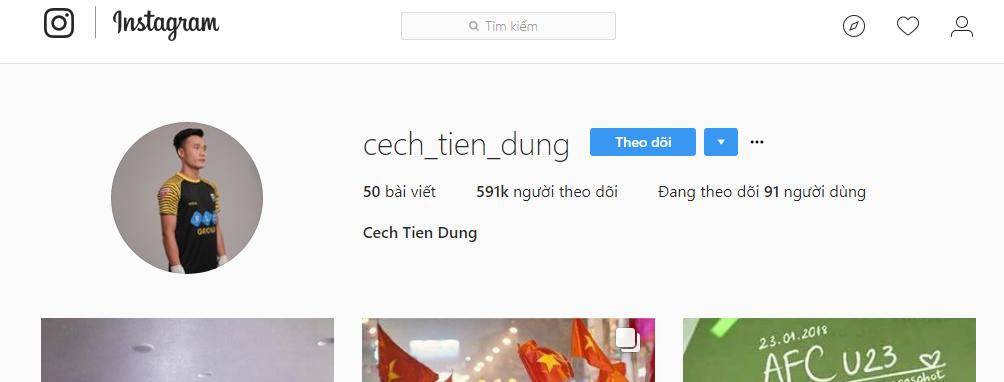 Instagram của các cầu thủ U23 Việt Nam tuy chưa có dấu xanh nhưng không thể làm giả - Ảnh 5.