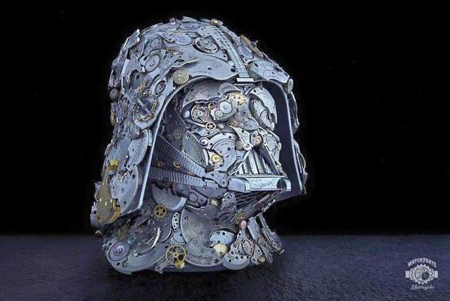 Biến những linh kiện đồng hồ cũ thành tác phẩm điêu khắc đẹp đến ngỡ ngàng - Ảnh 7.