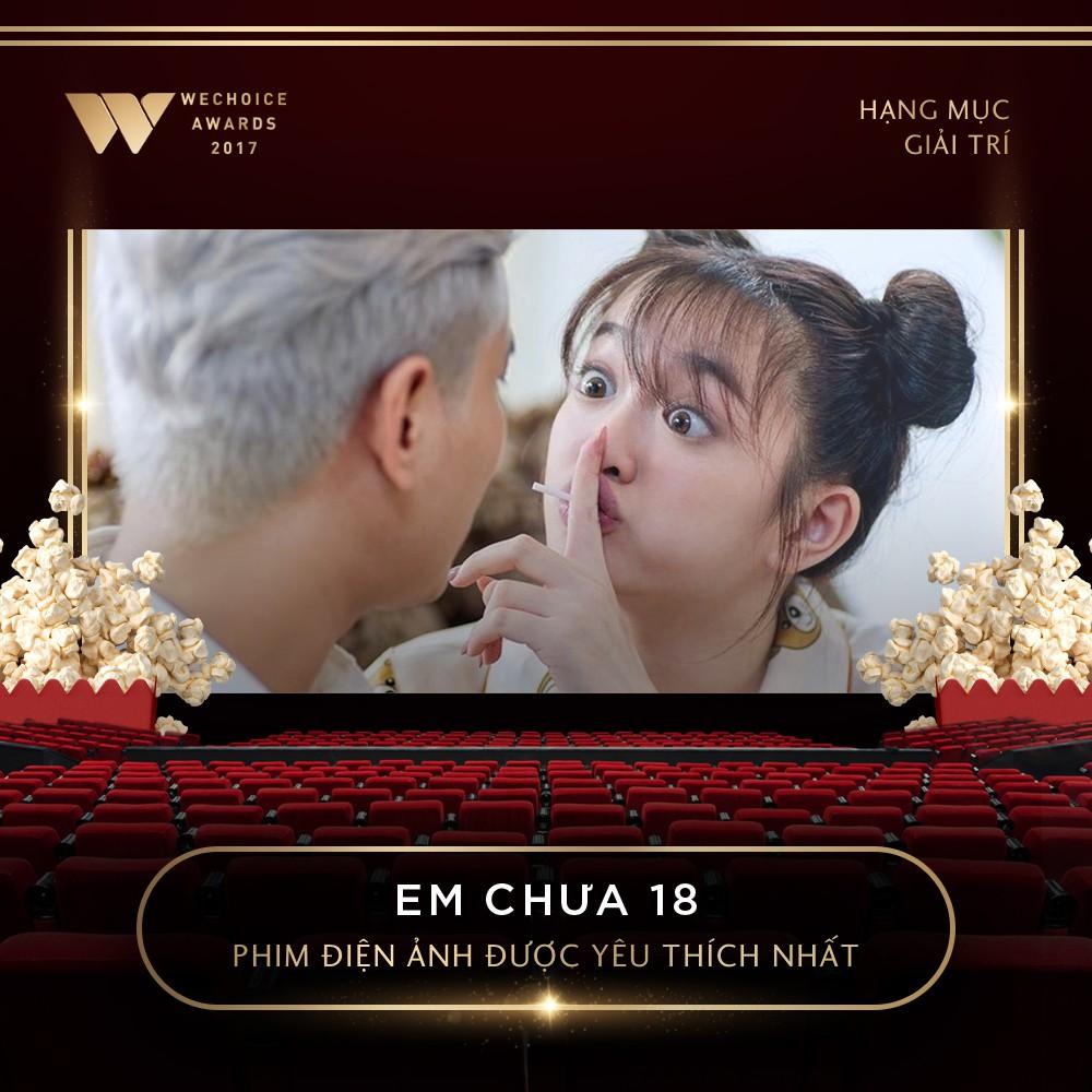 Các đề cử hạng mục giải trí được tôn vinh ở đêm Gala WeChoice Awards 2017
